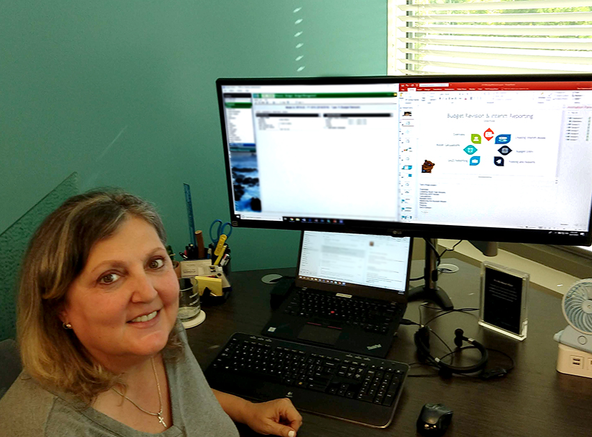 Terri Hammond, System Trainer is preparing for this month's webinar.