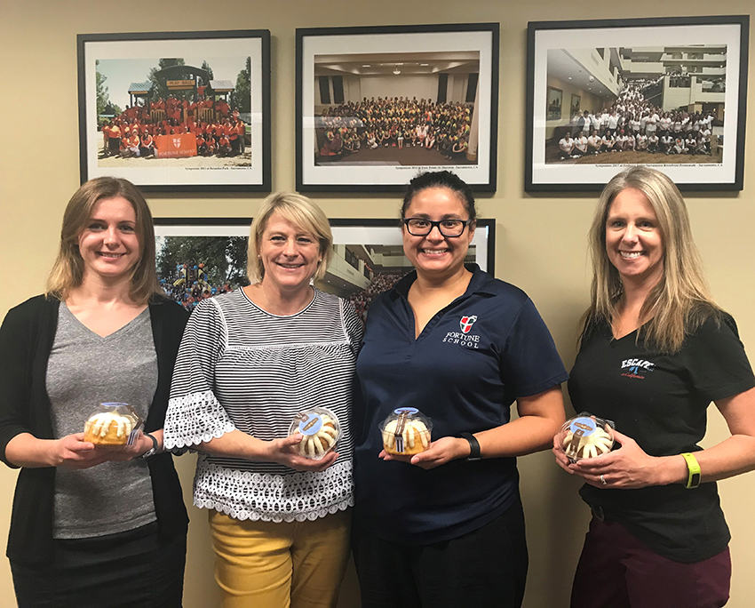 Pictured above: Tanya Karalets, Escape Software Support Analyst; Bonnie Bensen, Chief Financial Officer of Fortune School of Education; Consuelo Prada, Fiscal Service Technician of Fortune School of Education; and Jennifer Escamilla, Escape Product Manager.