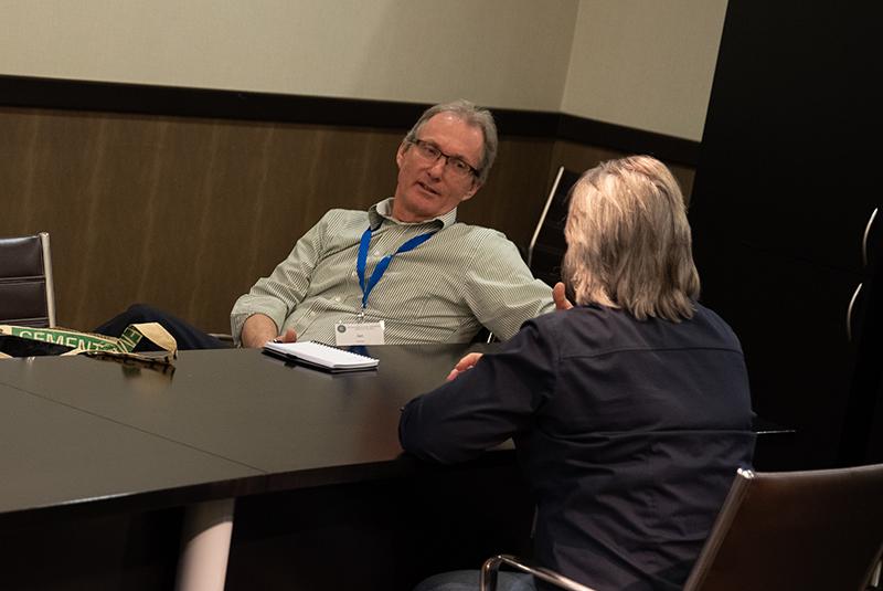 Susan, Escape Software Developer, meets with Butte COE.