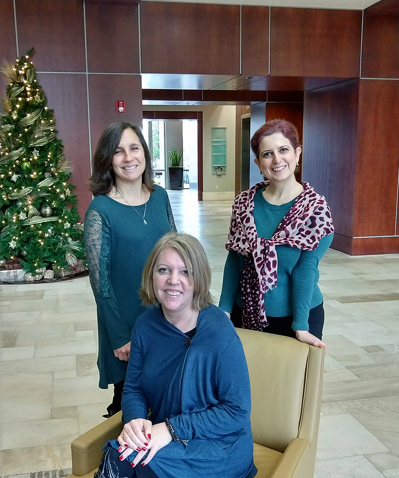 Pictured above, left to right: Robyn Wagenknecht, Software Support Analyst; Lora Sutherland, Software Support Analyst; and Arin, Finance Product Area Team Manager.