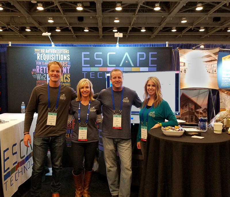 Pictured above left to right: Charlie Pratt, VP Business Development; Ramona Marshall, President; Mike Long, IT Manager; and Jennifer Escamilla, Escape Product Manager.