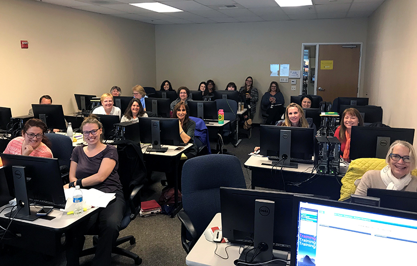 The first day of Employee Management training for districts in Santa Cruz COE.
