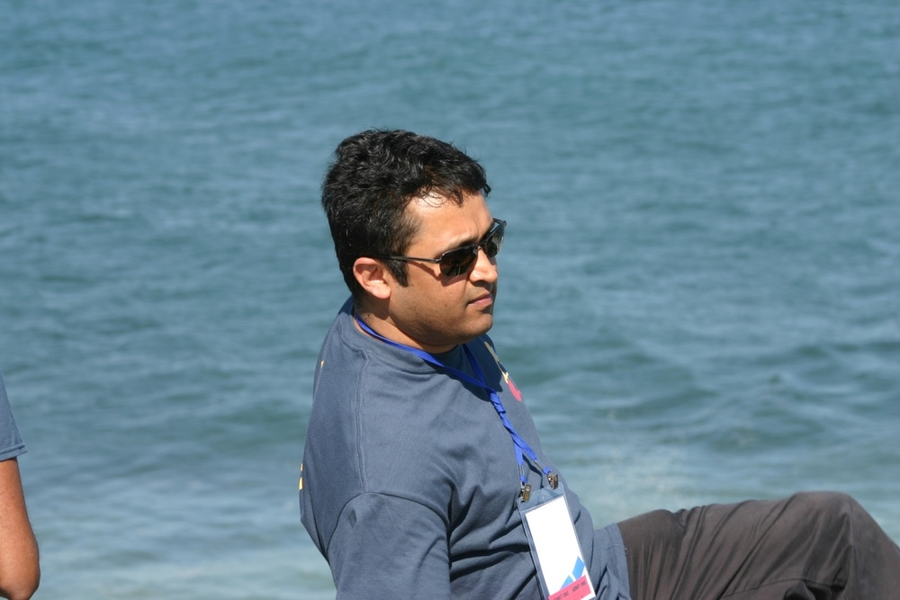 Vardhan enjoying the vistas.