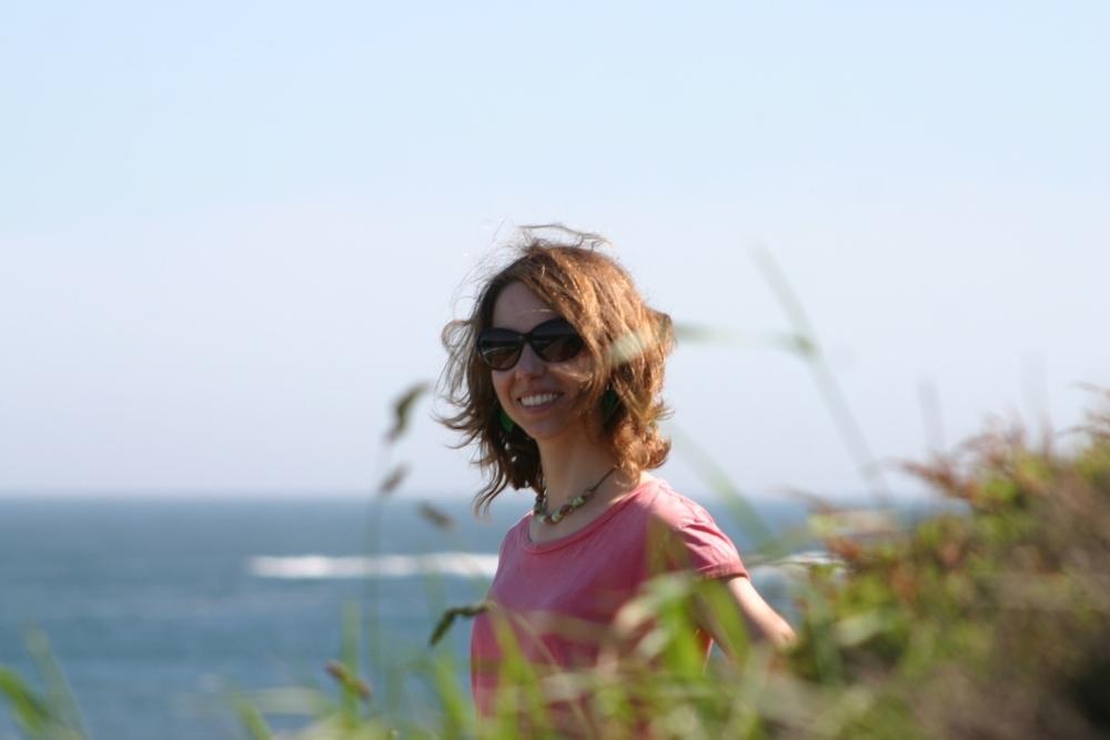 Marie also enjoying the cliffwalk.