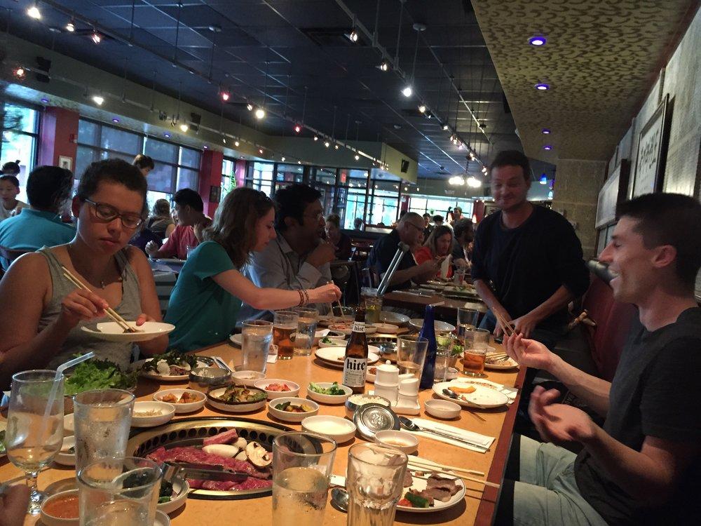 So we ate bulgogi to celebrate a job well done!