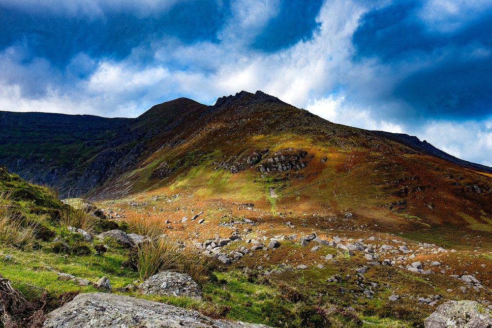 Comeragh Mountains - The beautiful Comeragh Mountains, surrounding the Coumshingaun Lough in Co. Waterford, Ireland.