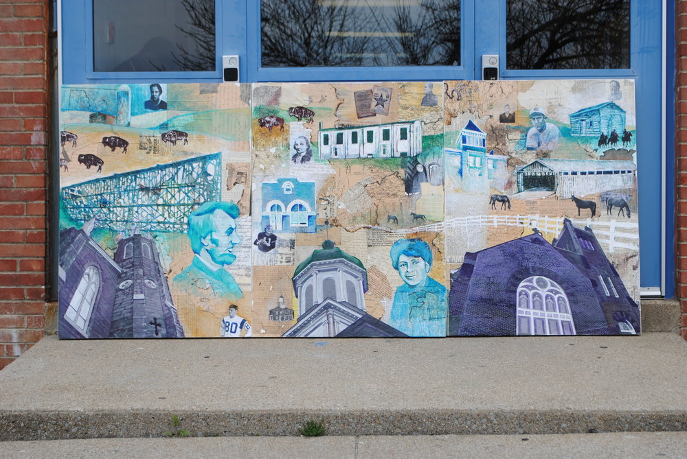 Mural with students from Washington County High School