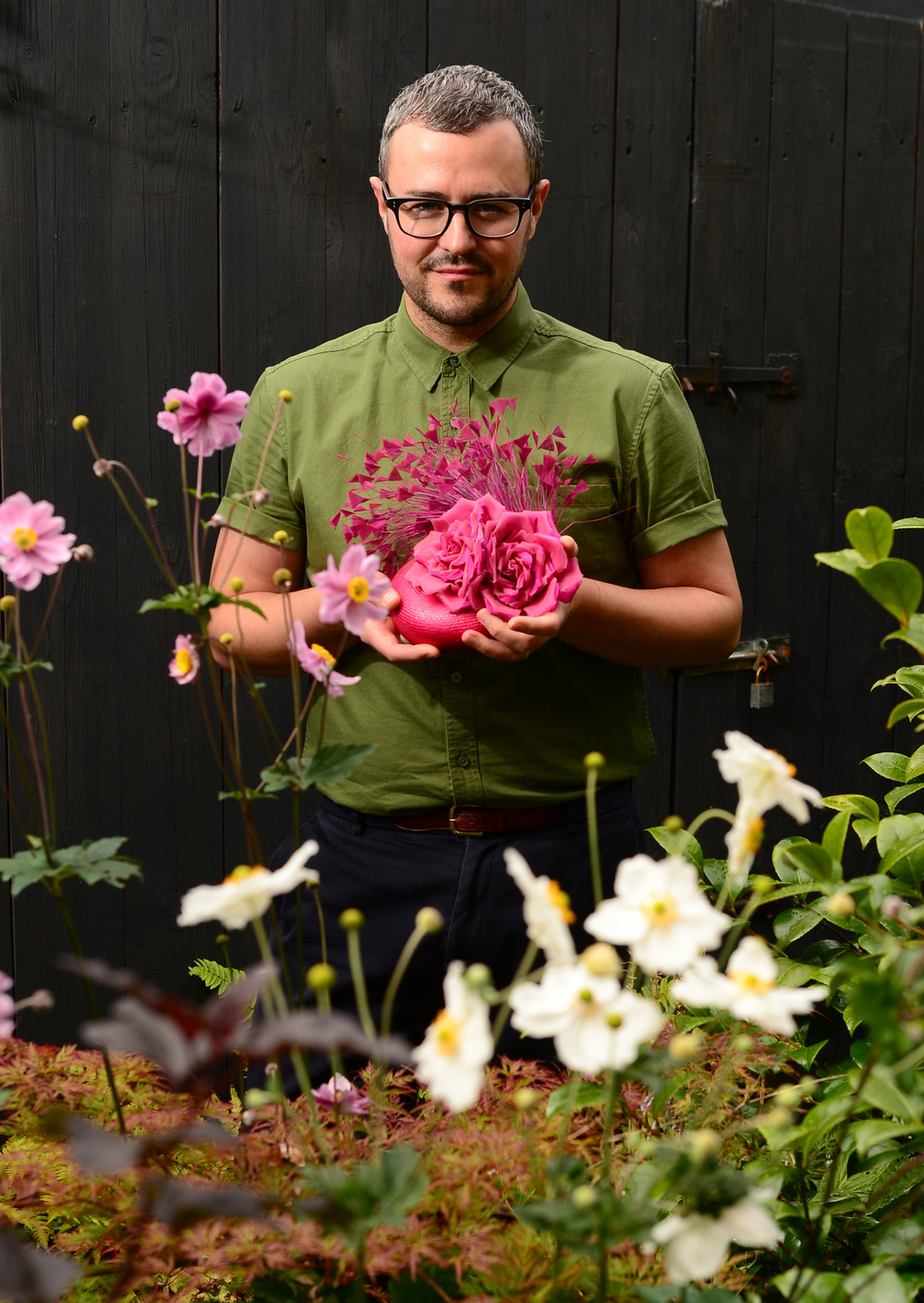 William in his garden, which inspires many of his designs.  Photo: The Herald.