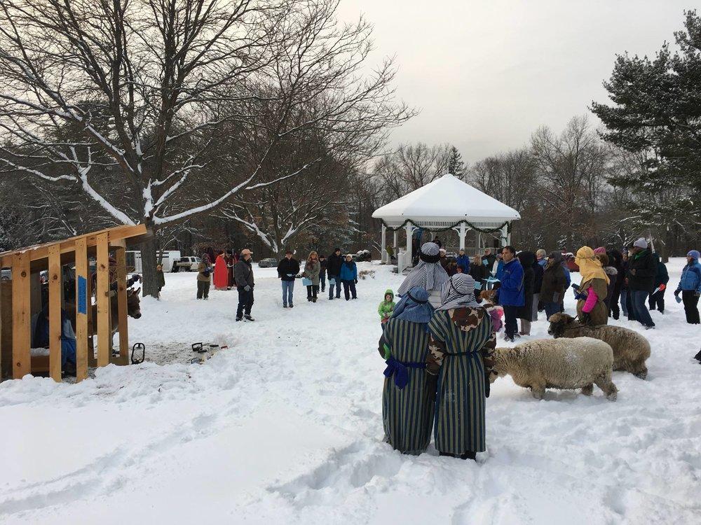 Christmas Carols and Brookside Church Living Nativity