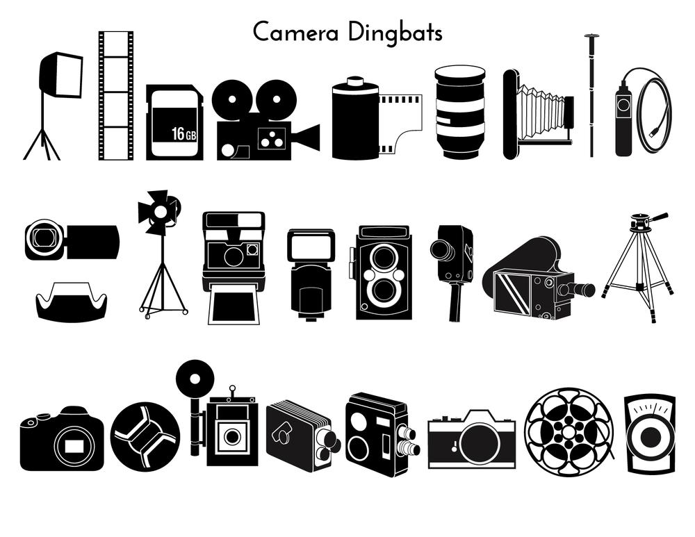 A camera dingbat family
