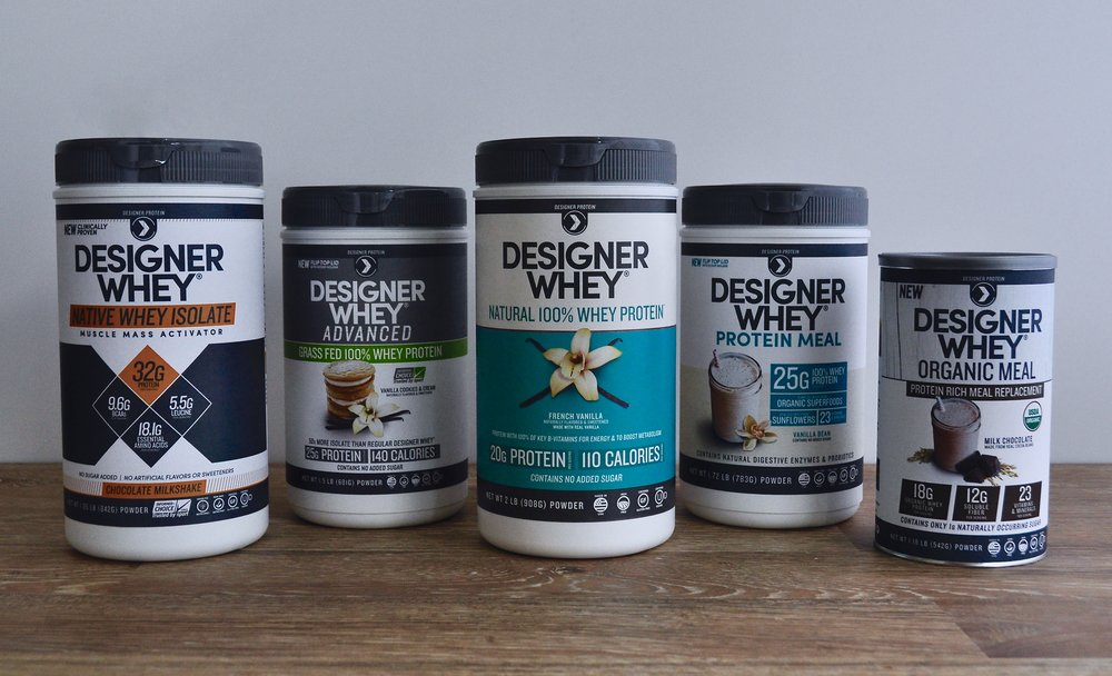 Designer Whey family - collaborated on front panel design, in charge of designing back and nutritional panel layouts.
