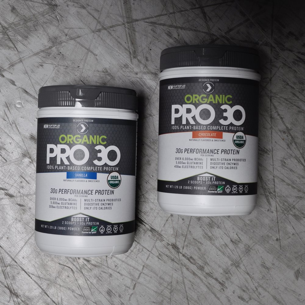 Organic Pro 30 - updated layouts for back and nutritional panels.