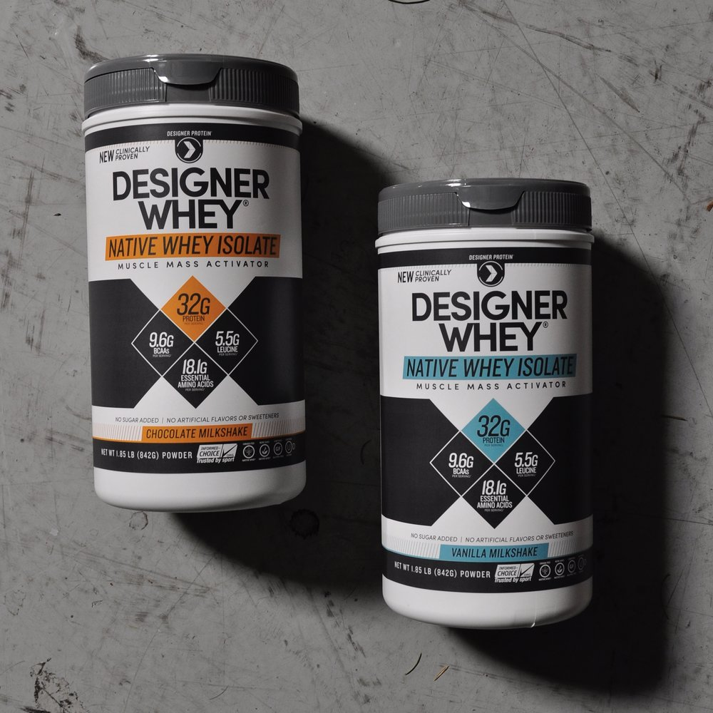 Designer Whey Native Whey Isolate -  collaborated on overall label design, developed graphs on back panel.
