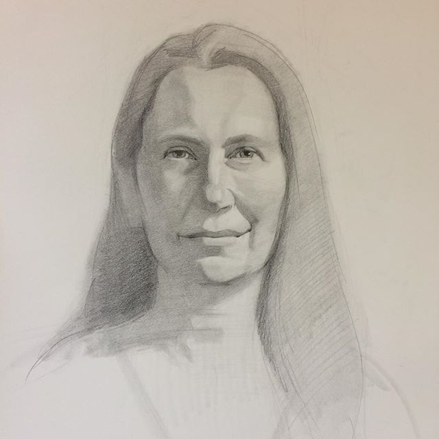 Today's sketch from life. #bixbypainters #bixbylibrary #vergennes #vtartist #portait #drawing