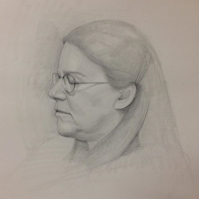 Another day, another drawing. Great model. #charlottevt #vtartist #portait #sketch #drawing