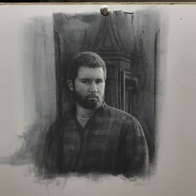 Done ✅: Today I unearthed this drawing in the studio and felt inspired to work on it.  I stopped working on this over a year ago because something just wasn't right and I couldn't seem to fix the issue. Today I was able to fix the mistakes in 10 minutes.  Funny enough it's this man's birthday tomorrow.  Happy birthday my love! ❤️ Thank you for always believing in me and encouraging me to keep creating. I love you until the end of time.  #tinydrawing #portrait #drawing #art
