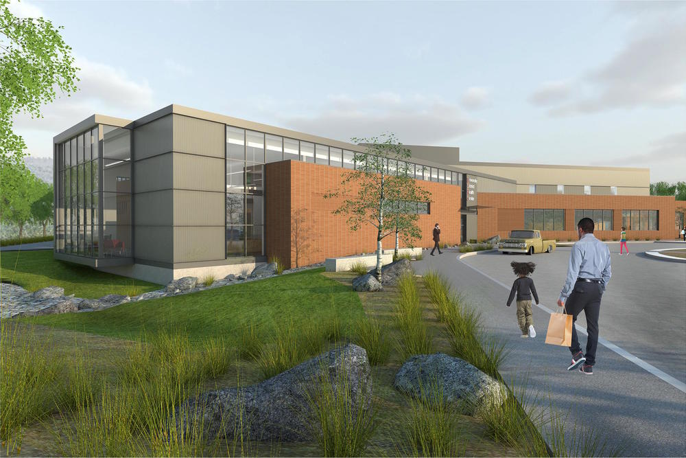 Architect's rendering of University District Health Clinic, slated to open mid-2016.