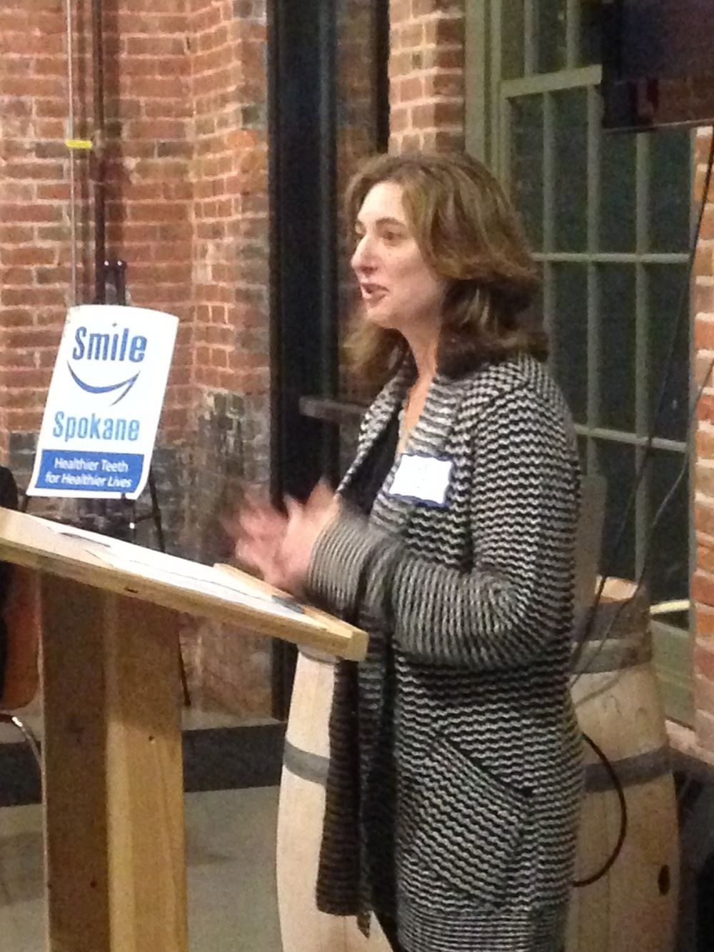 Washington Dental Service Foundation Deputy Director Diane Oakes lauds Spokane's focus on oral health.