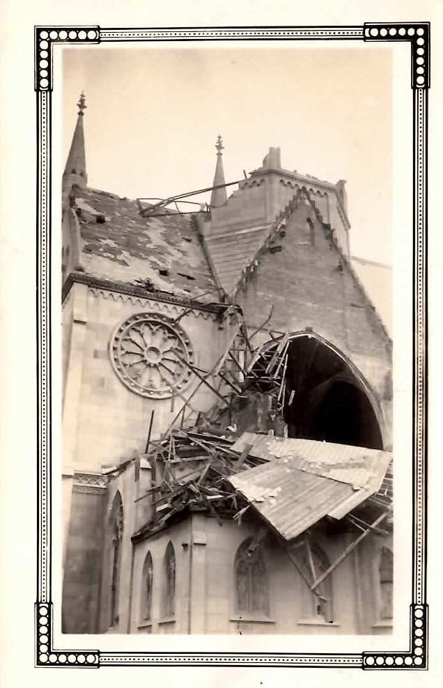 1927  Those in the church when the tornado struck took refuge in the basement.  Though everyone survived, Holy Trinity was damaged extensively.  The third of the church's towers was completely destroyed.