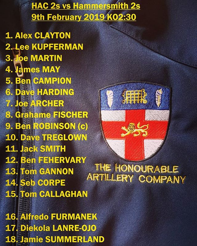 Teams for the 2s and 3s against @hammers_rugby 2s and 3s. 2 big games. #HAC #saturdaysarefortheboys