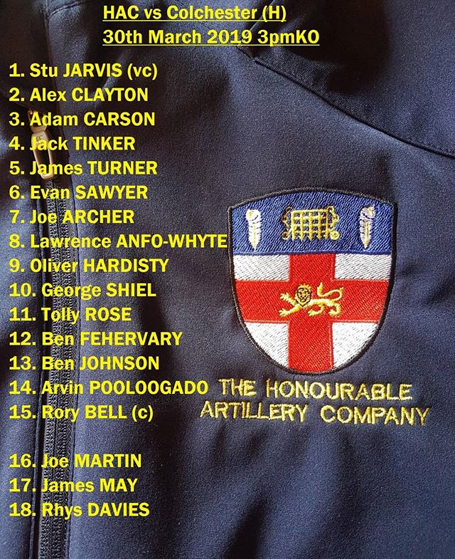 Big day for the HAC tomorrow as the 2s take on @hammers_rugby in the Cup and League Final at Ruislip RFC, whilst the 1s take on @colchesterrfc at home in Chiswick. Good luck to al involved. #saturdaysarefortheboys #HAC #HACfamily