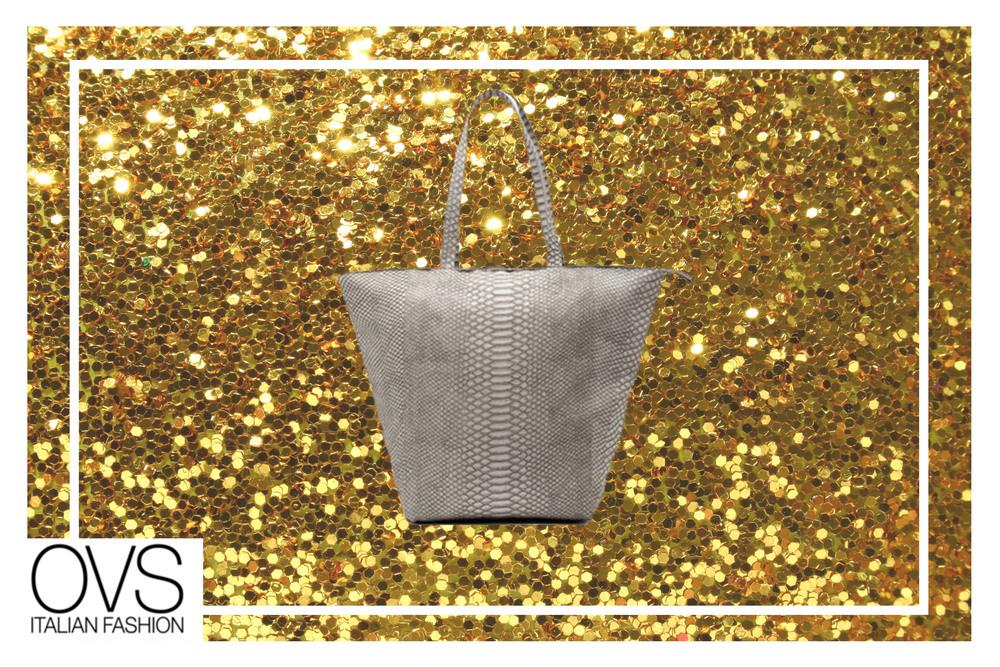 Este tote bag de animal print de OVS te da la capacidad de llevar todo lo que necesitás en las carreras de fin de año, y continuaràs manteniendo un perfil ideal para trabajar o salir en estas noches de fiesta.