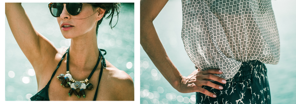 Gafas y Collar:MANGO - Bikini: WOMEN'SECRET - Blusa: OVS - Pantalon: MAXMARA