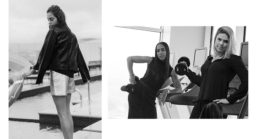 Maia Miranda - Jacket: ¢119,990 Shorts: ¢32,990 /Jimena Smith - Falda: ¢19,990 Camisa: ¢9,990 y Mapa Bruna - Jeans: ¢34,990 Camisa: ¢49,990.
