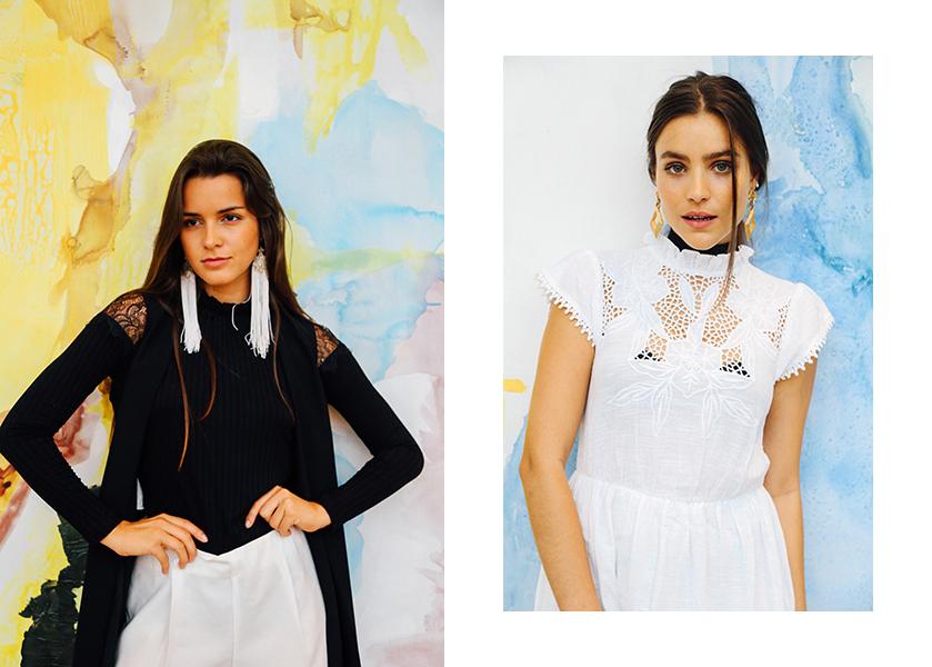 Jessica Gonzalez - Camisa: ¢32,990 Shorts: ¢29,990 Chaleco: ¢44,990 y Anne Marie Miller - Vestido: ¢54,990