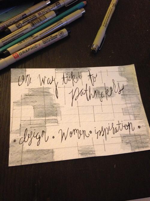 One of Katie's postcards.