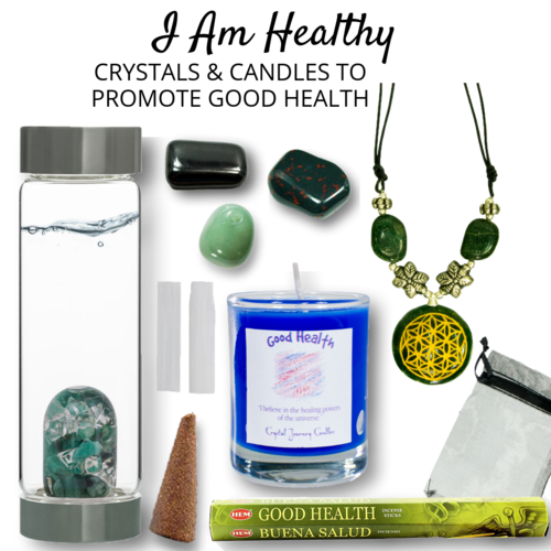 I Am Super Healthy Crystals Candles To Promote Good Health