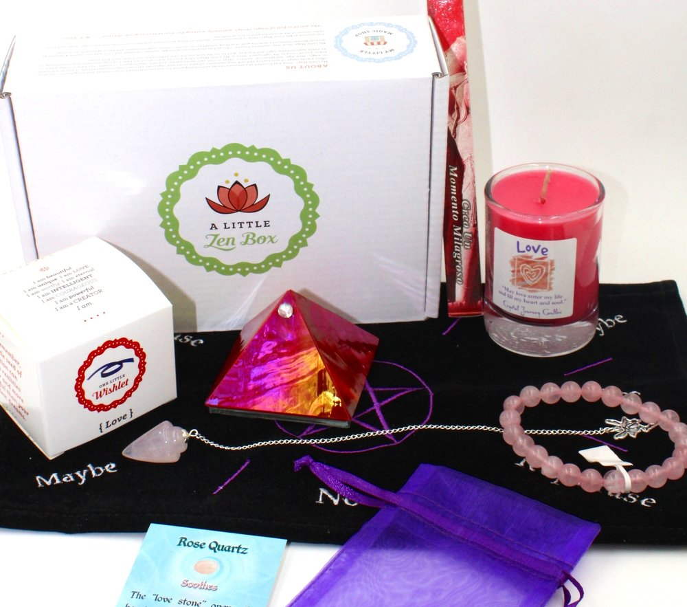 A Little Self Love A Little Zen Box - Loving yourself more deeply with new self love routines.