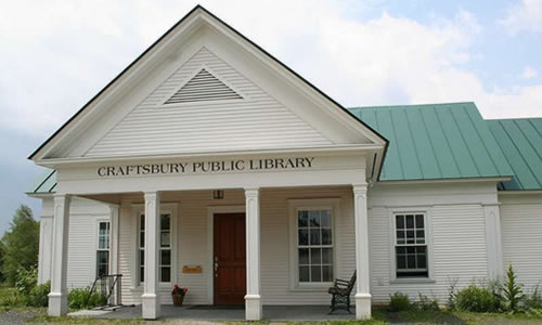 Craftsbury Public Library 12 Church Lane, PO Box 74  Craftsbury Comm VT 05827 Phone: (802) 586-9683  Email: craftsburylibrary@ gmail.com
