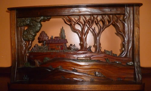 Hugo Mesa Studio Inc    Hand Carved Architectural Artwork   673 West Hill Road  Craftsbury VT 05826 Phone: (802) 586-7537