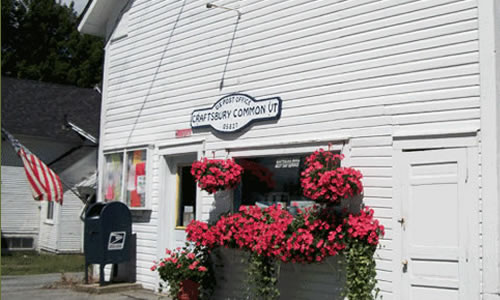 05827—Craftsbury Common Post Office     Lobby open Mon.-Fri. 7:30-11:30am  & Sat. 8-11 am      Craftsbury Comm VT 05827 Phone: (802) 586-2209
