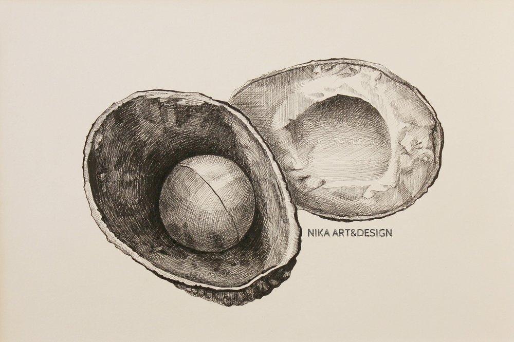 Still life 3. Ink on paper 30*21cm 2012