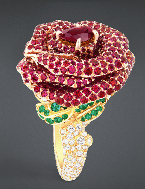 Dior Rose Bagatelle Ring ;  price upon request