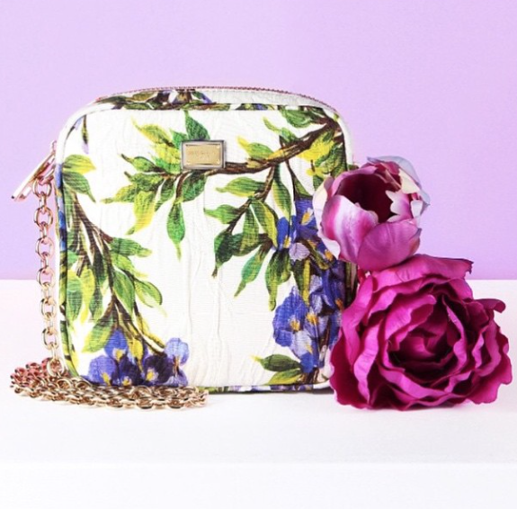Dolce and Gabbana brocade shoulder bag, $795; available at mytheresa.com
