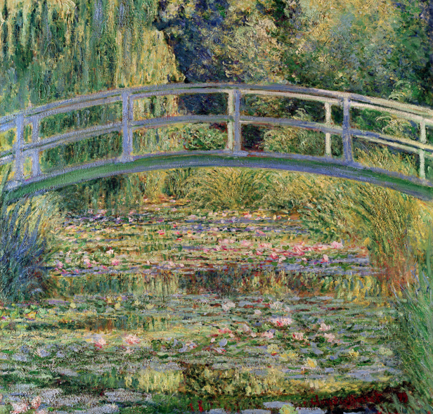 Water Lilies Under The Japanese Bridge , Claude Monet; 1899