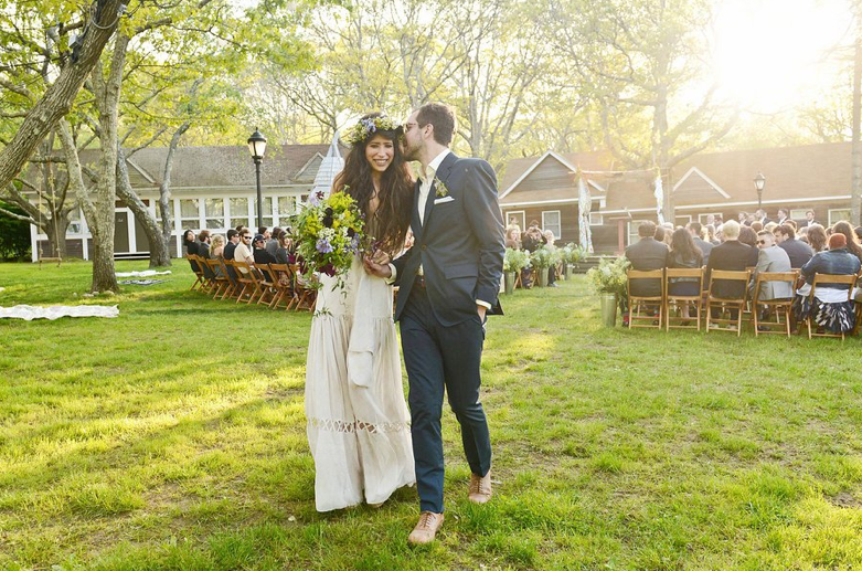 Pamela Love and Mathew Nelson's Montauk wedding; photo: vogue.com