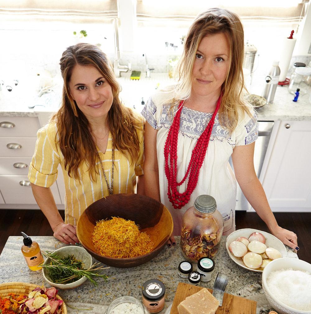 Earth tu Face founders Saeah Bucho (left) and Marina Storm.
