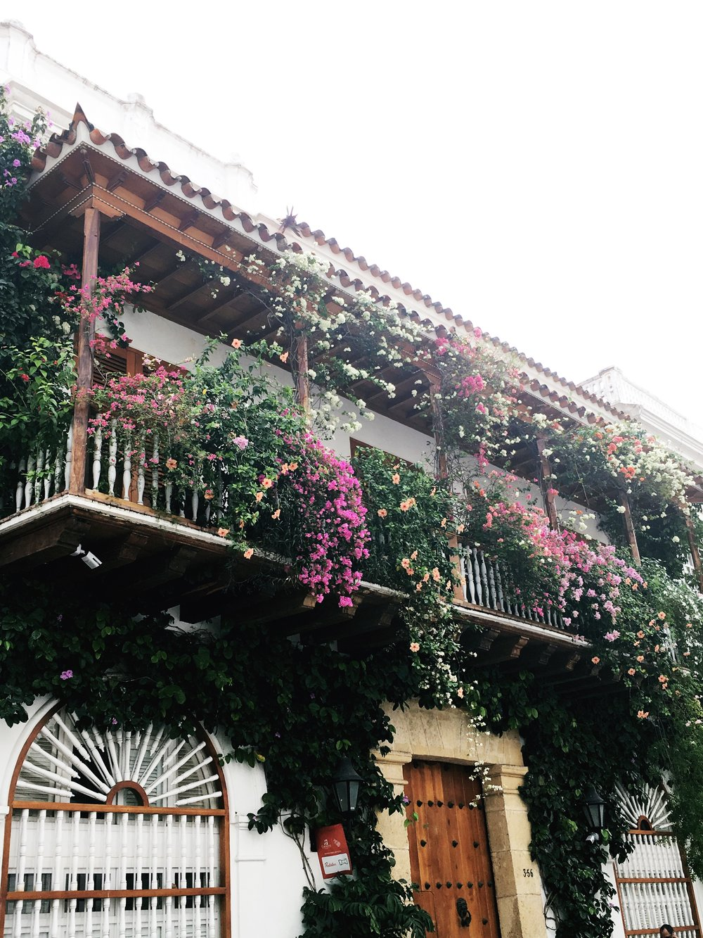 Balconies overflowing in the old town