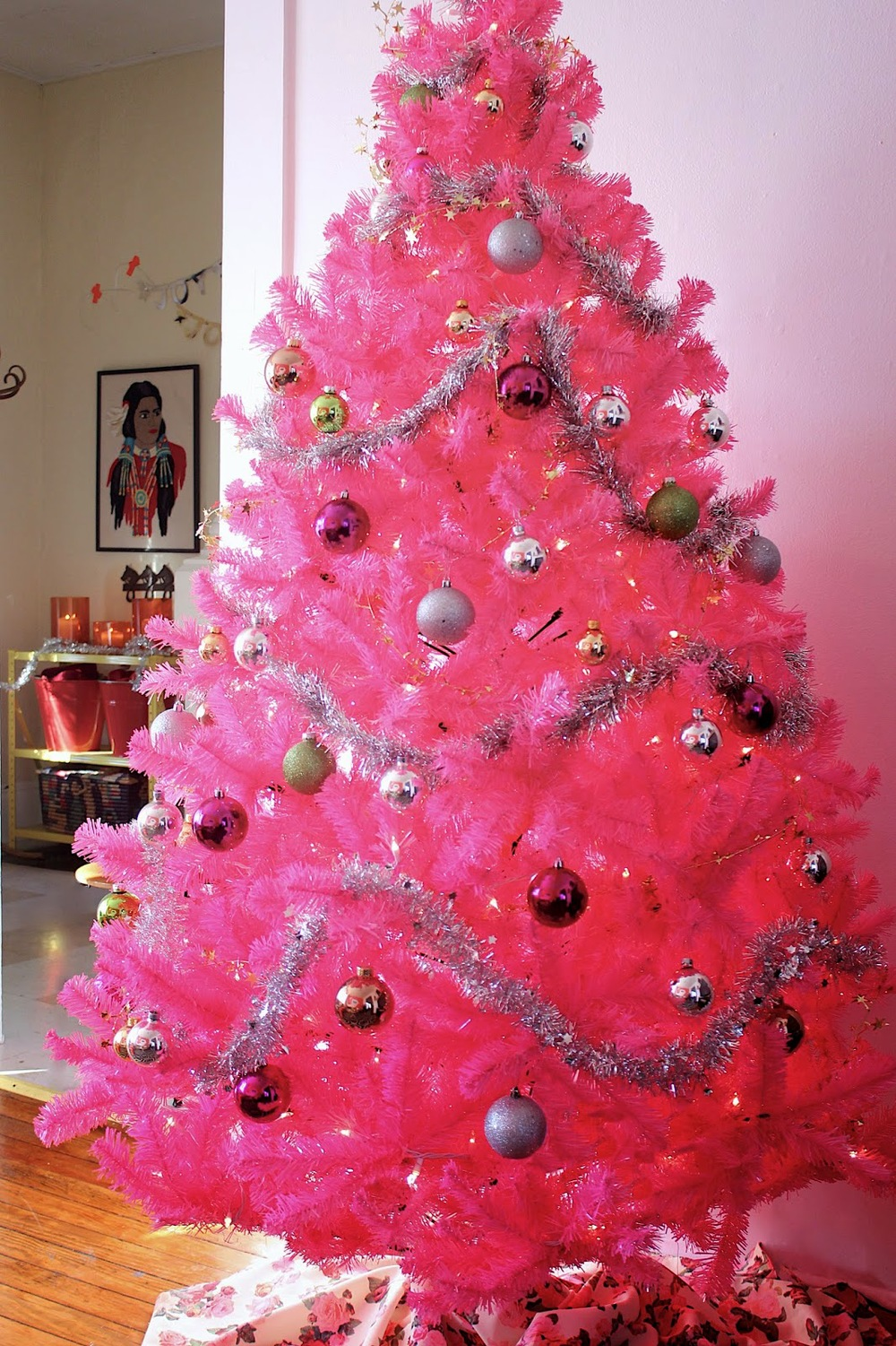 Hot pink christmas tree decorations - Pink 2bchristmas 2btree 2b12 Jpg