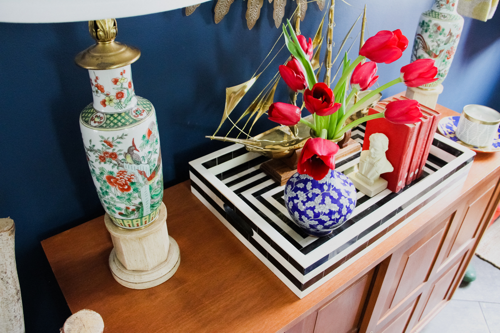 Preppy Tulips and Chinoiserie Lamps