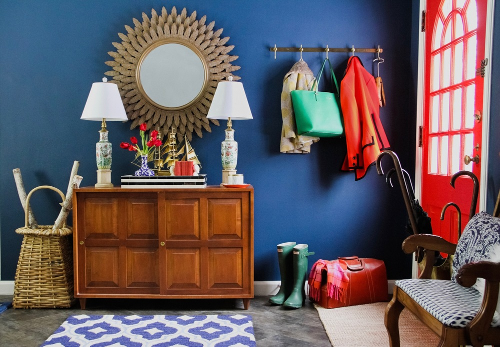 Bright and Preppy Entryway