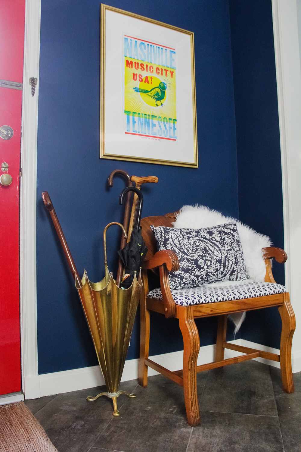 Bright and Preppy Entryway Nashville Print