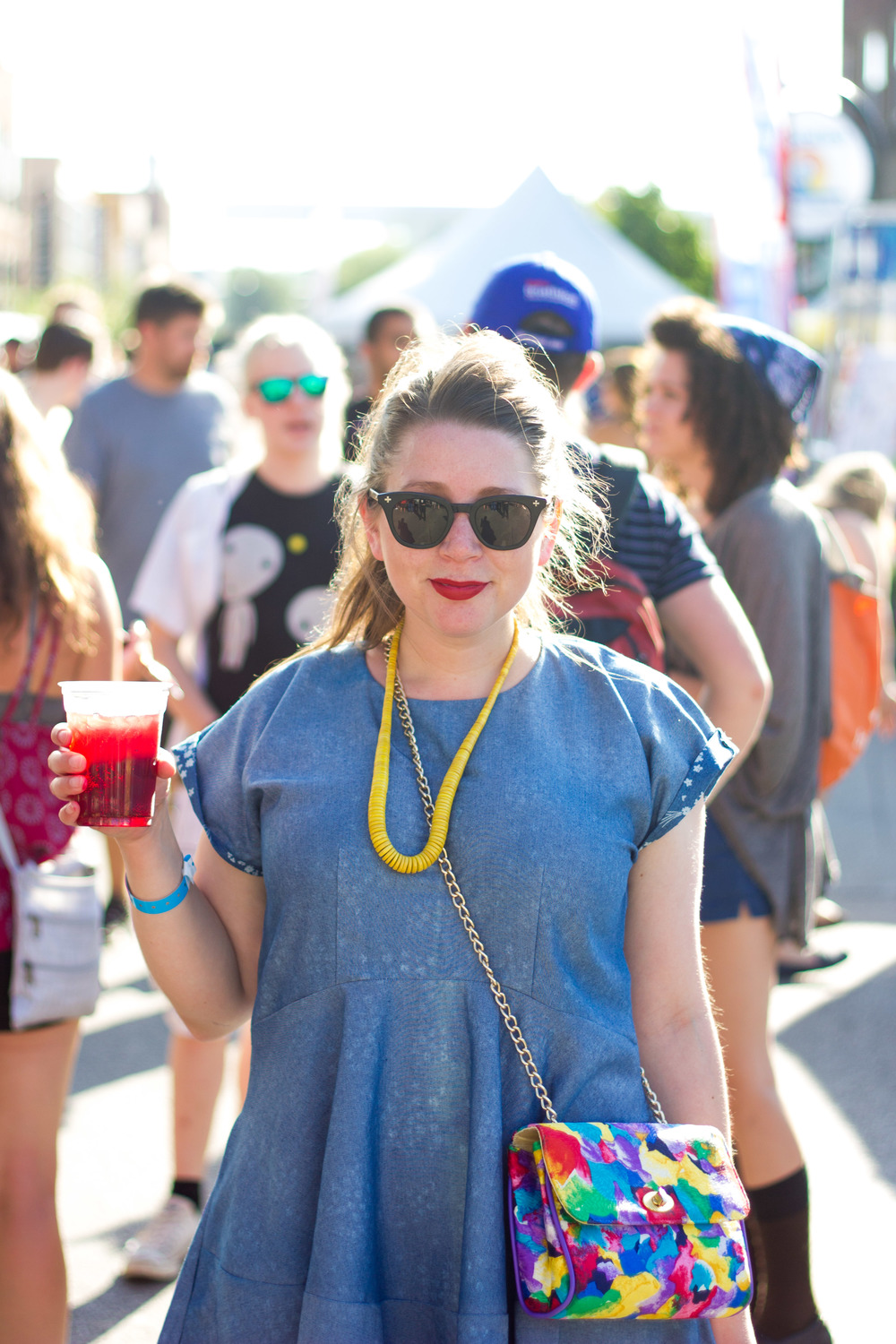 M Pettipoole – Chambray Dress at 80/35 Music Festival