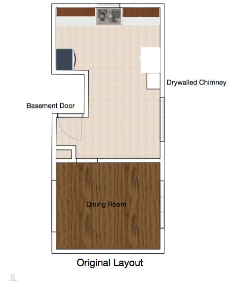 Rental Kitchen Original Layout