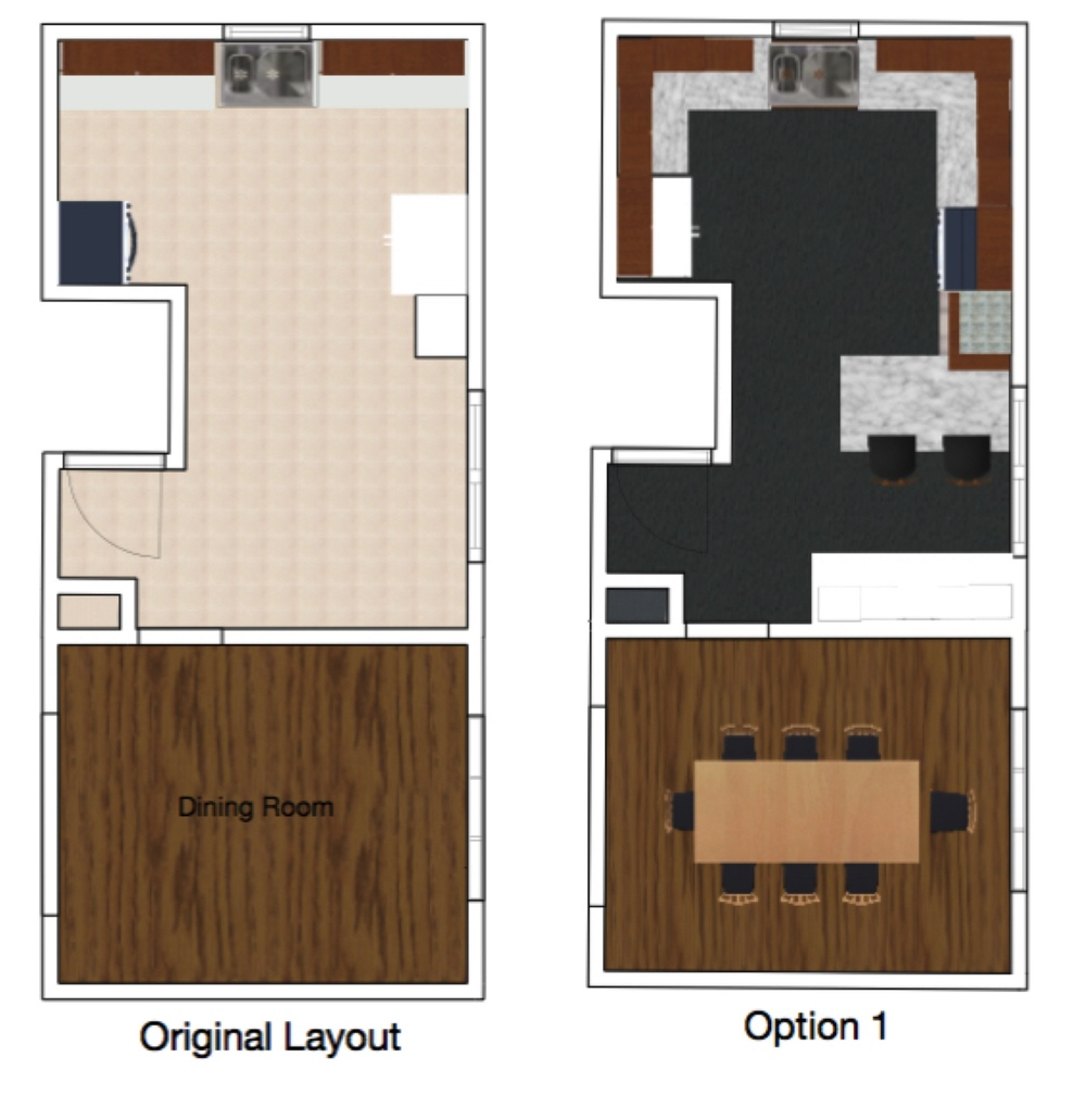 M Pettipoole – Mayberry Rental Kitchen Original and Option 1