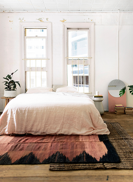 Casual Pink Bohemian Bedroom